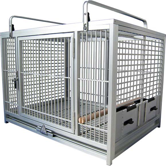 So a Parrot can travel safely the cage has two swing out feeders with locking cups slide out grille and tray one perch and large cage doors for easy ...  sc 1 st  Northern Pet Trade & About King\u0027s Cages