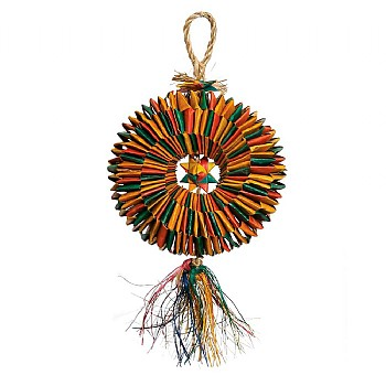 Woven Wonders Shredding Tyre Parrot Toy - Medium
