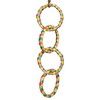 Woven Wonders Four Palm Ring Chain Parrot Toy - Large