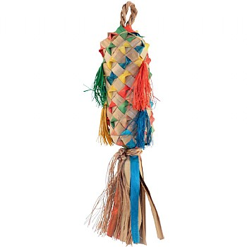 Coloured Pinata Spiked - Natural Chew Toy for Parrots Small
