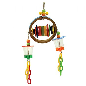 Super Bagel Foraging Parrot Toy
