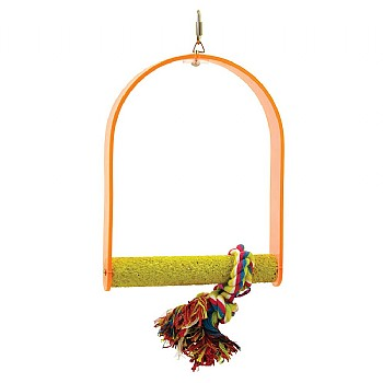 Nail Trimming Arch Swing Parrot Perch - Medium