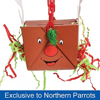 Reindeer Foraging Goodie Box Chewable Parrot Toy