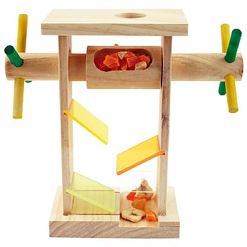 Northern_Parrots Treat Dispenser Machine Foraging Parrot Toy