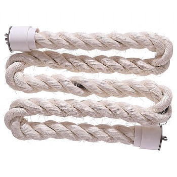 Sisal Rope Zig Zag Parrot Perch - Large