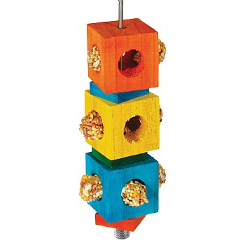 Foraging Cubes Stacker Parrot Toy