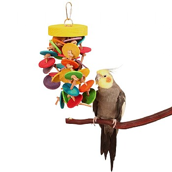 Disks and Knots Wooden Rope Parrot Toy