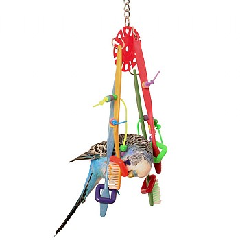 Northern_Parrots Balancing Brushes Parrot Toy