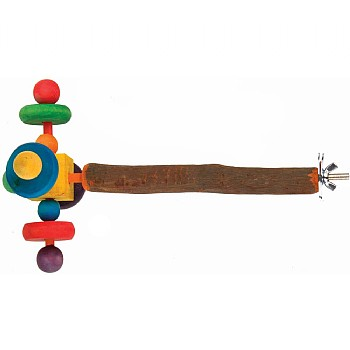 Wooden Twirler Perch Spinning Parrot Toy