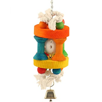 Wiffle House Wood And Rope Parrot Toy