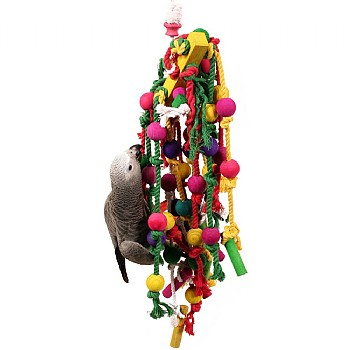 Seesaw Swinger Wood and Rope Parrot Toy