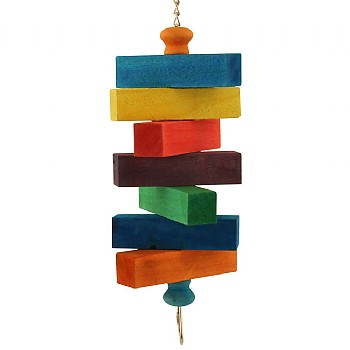 Blocks Ahoy! Wood Parrot Toy - Medium