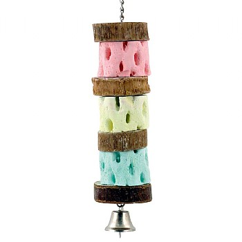 Northern_Parrots Triple Cactus Slice Mineral Chew Parrot Toy