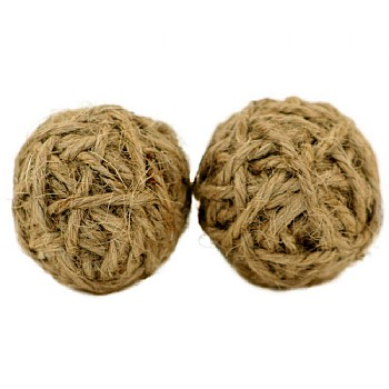 Northern_Parrots Jute Rope Balls - Mini - Pack of 2