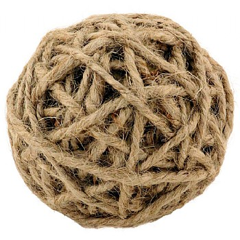 Northern_Parrots Jute Rope Ball Parrot Foot Toy - Medium