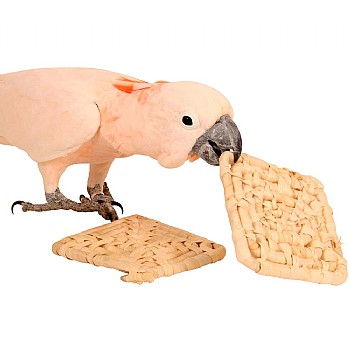 Natural Maize Mats - Chewable Toy for Parrots