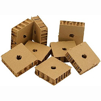 Chunky Corrugated Cardboard - Parrot Toy Parts - Pack of 8