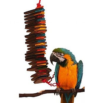 Zoo-Max Shredding Spiral Parrot Toy