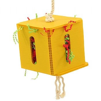 Foraging Cube - Hanging Parrot Toy - Large