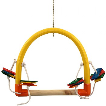 Arched Parrot Perch Play Swing - Large