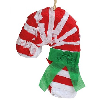 Christmas Candy Cane  Pinata Parrot Toy - With Treats