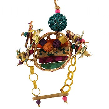 Razzle Dazzle Parrot Toy and Swing