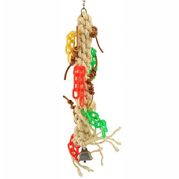 Macrame Chain Gang Parrot Toy