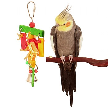 Birdie Wind Chime Chew Toy for Small Parrots