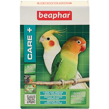 Beaphar Care Plus Super Premium Food - Med/Lrg Parakeet 500g