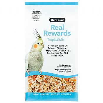 ZuPreem Real Rewards Tropical Mix for Medium Parrots 6oz