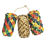 Woven Wonders Cylinder Foot Toys for Parrots - Pack of 3