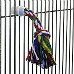 Cotton Rope Parrot Preening Toy - Medium