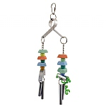 Calcium Crunch Twin Chime Chewable Parrot Toy
