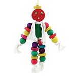 Play Pal Wood & Rope Parrot Toy
