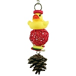Dolly Duck`s Vine & Pine Chewable Parrot Toy