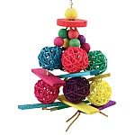 Vine Ball & Blocks Parrot Toy