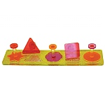 Acrylic Puzzle Shapes Parrot Toy -  Medium