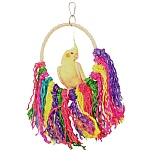 Rainbow Sisal Preening Rope Swing