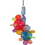 Double Paddleball Acrylic Parrot Toy