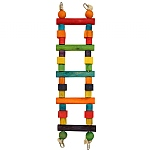 Rainbow Wooden Parrot Ladder - Small