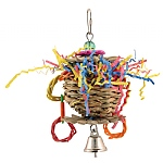 Mini Flower Basket Parrot Toy