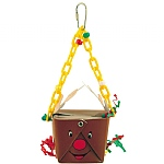 Reindeer Foraging Goodie Box Parrot Toy