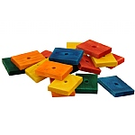 Coloured Wood Slats Medium - Parrot Toy Parts - Pack of 16