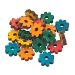Coloured Pine Wood Daisies - Parrot Toy Parts  - 20 Pack