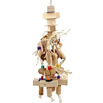 Natural Mammoth Wood & Rope Parrot Toy
