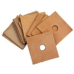 Pack of 10 Large Leather Squares - Parrot Toy Making Parts
