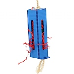 Crinkle Paper Foraging Box Parrot Toy - Small