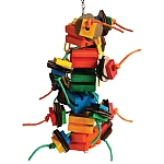 Helice Puzzle Block Stacker Parrot Toy