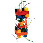 Metropolis Tower Chewable Wood Parrot Toy - Large