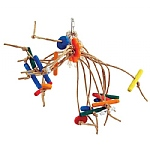 Itsy Bitsy - Paper Rope Spiddy Parrot Toy - Medium